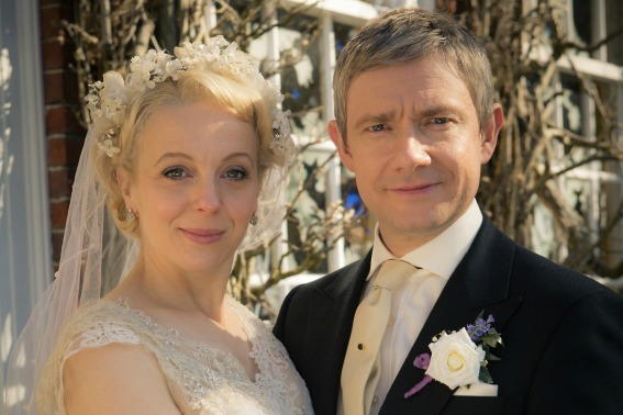 Picture shows: Mary Morstan (AMANDA ABBINGTON) and John Watson (MARTIN FREEMAN)