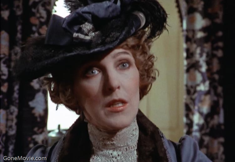 Patricia Hodge (Lady Hilda Trelawney Hope) also visits Holmes and asks him about the letter. He tells her that he  will not compromise the British government. She begs Holmes to tell her husband nothing of her visit.