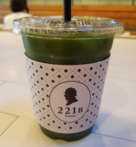 Dr. Watson's Detox Juice. 221B Cafe in Seoul. Sherlock cafe. The Baker Street Babes. www.bakerstreetbabes.com