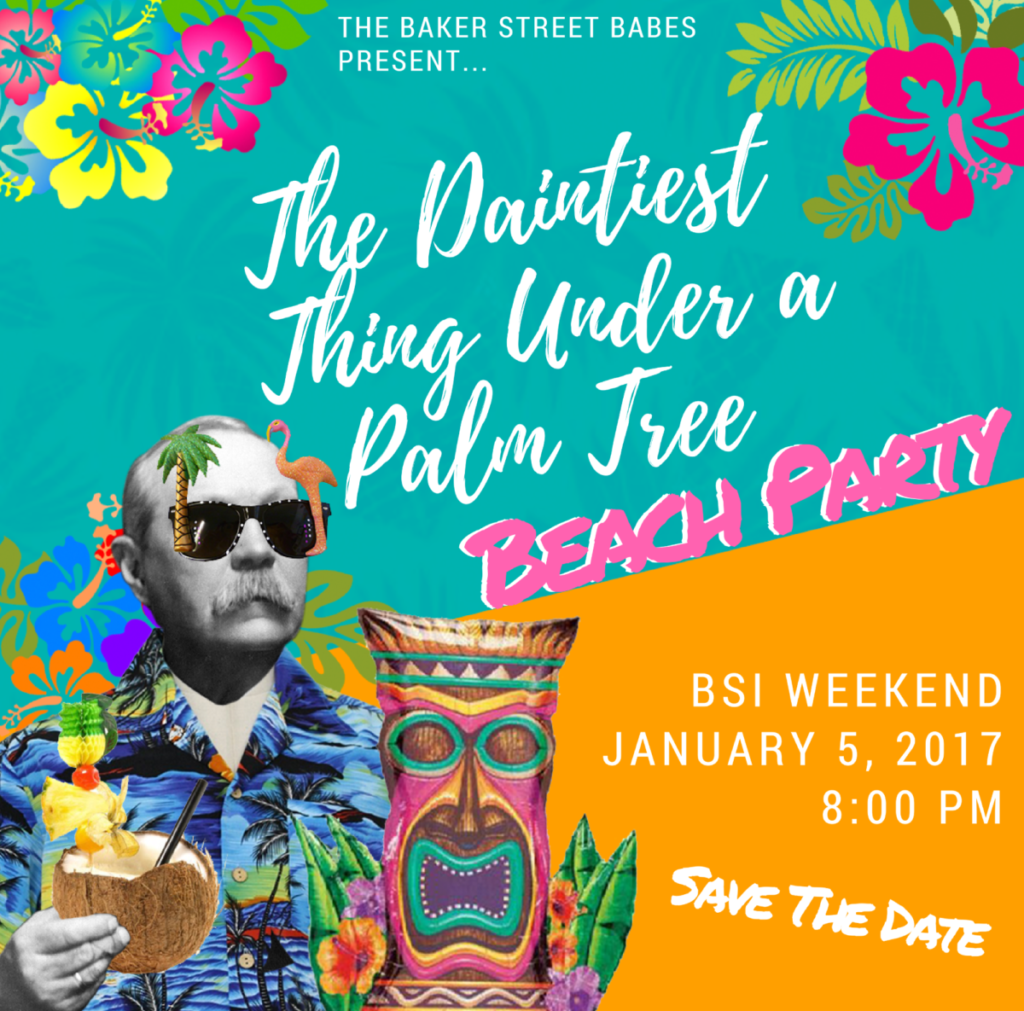 The Daintiest Thing Under A Palm Tree Beach Party - Save the date - The Baker Street Babes - www.bakerstreetbabes.com